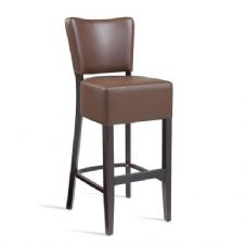 Vanna Club Bar Stool Wenge Brown